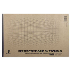 Koala Tools 2-Point Perspective Grid Sketch Pad - 11 in. x 17 in.