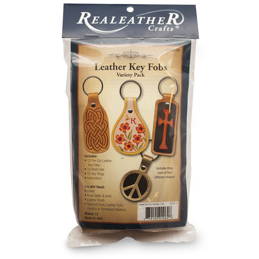 Leather Key Fobs Variety Pack