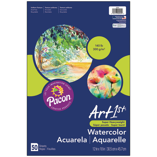 Pacon® Art1st® Watercolor Paper - 12 in. x 18 in.