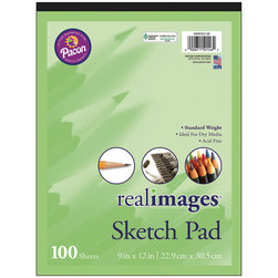 Pacon® Real Images™ Paper - Sketch Pad - 9 in. x 12 in.