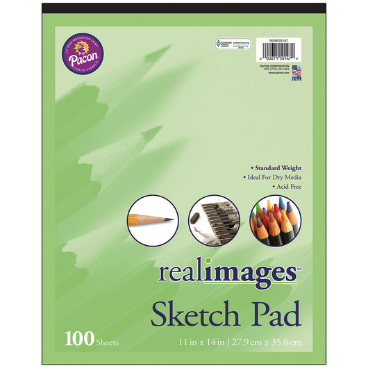 Pacon® Real Images™ Paper - Sketch Pad - 11 in. x 14 in.