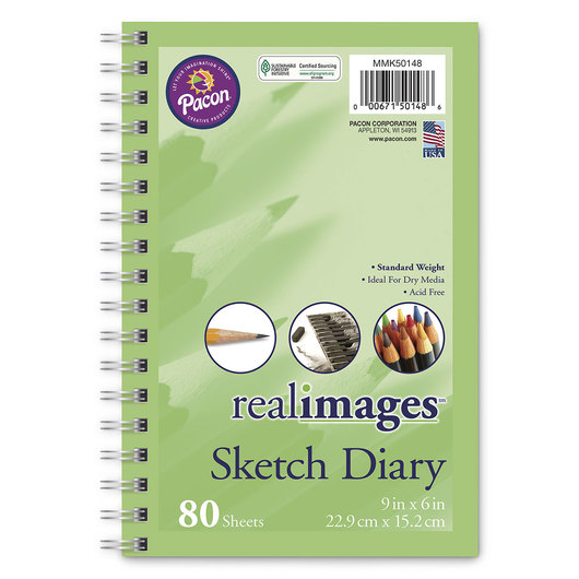 Pacon® Real Images™ Paper - Sketch Diary - 9 in. x 6 in.