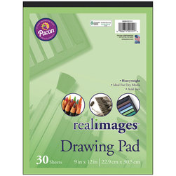 Pacon® Real Images™ Paper - Drawing Pad - 9 in. x 12 in.