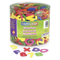 Creativity Street® WonderFoam® Letters and Numbers Craft Tub