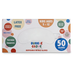 Kids' Disposable Nitrile PPE Gloves - Box of 50