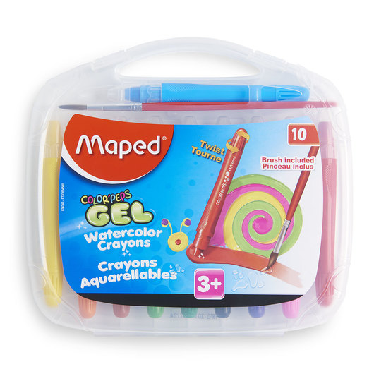 Maped® Color'Peps Watercolor Gel Retractable Crayons