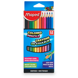 Maped® Color'Peps Triangular Colored Pencils - Set of 12