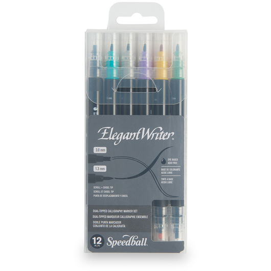 Speedball® Elegant Writer® Set of 12 Dual-Tipped Markers