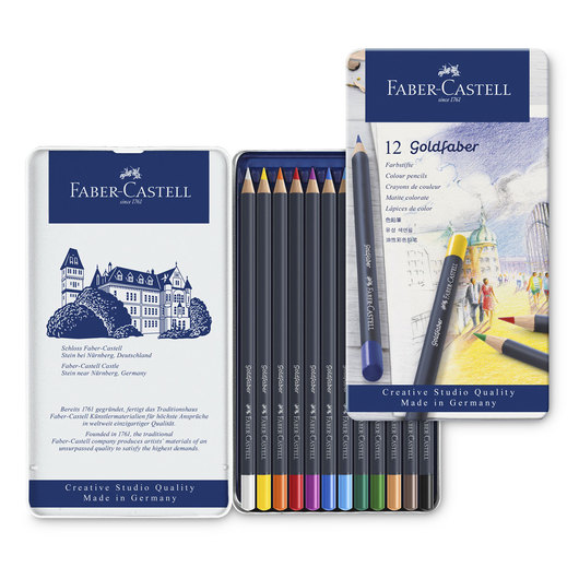 Faber-Castell® Goldfaber™ Color Pencils - Tin of 12