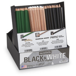 General's® Black and White Pencil Display