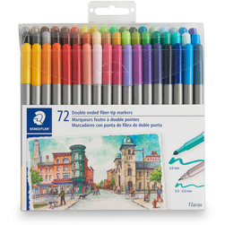 STAEDTLER® Double-Ended Art Markers - Set of 72