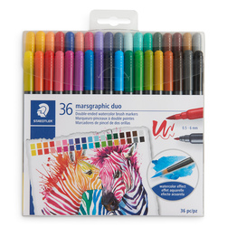 STAEDTLER® Marsgraphic Duo Tip Watercolor Brush Markers