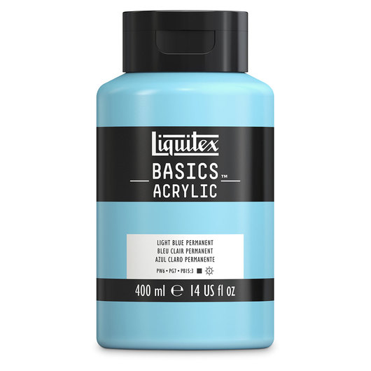 Liquitex® Basics Acrylic - 13.53 oz. Jar - Light Blue Permanent