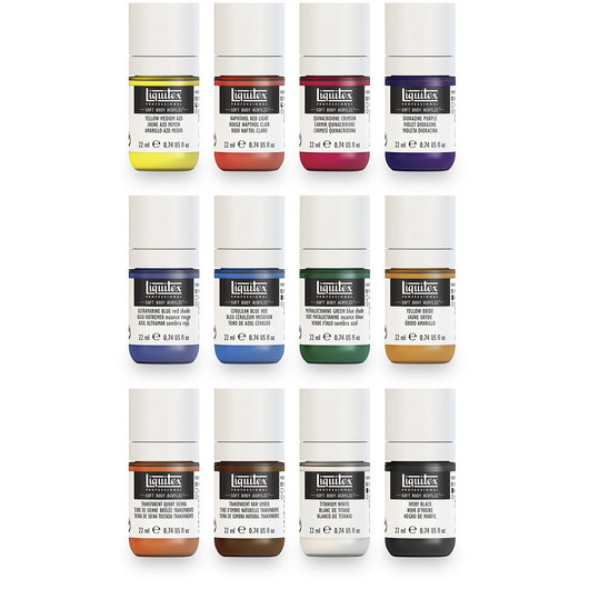 Liquitex® Soft Body Acrylics - Set of 12 Essential Colors