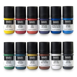 Liquitex® Acrylic Gouache - Set of 12 Essential Colors - 0.74 oz. (22 ml)