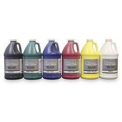Chroma® 2 Heavy-Bodied Washable Tempera Paint - Half-Gallon Set - Cool Colors