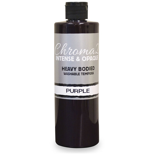 Chroma® 2 Heavy-Bodied Washable Tempera Paint - Pint - Purple