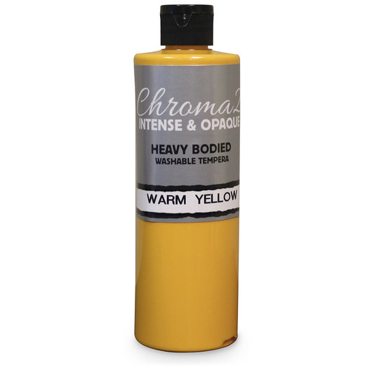 Chroma® 2 Heavy-Bodied Washable Tempera Paint - Pint - Warm Yellow