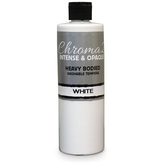 Chroma® 2 Heavy-Bodied Washable Tempera Paint - Pint - White