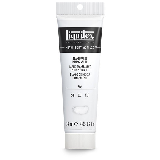 Liquitex® Heavy-Body Acrylic Paint - 4.65-oz. (138 ml) Tube- Transparent Mixing White