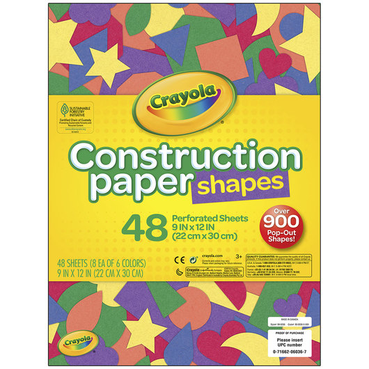 Crayola® Construction Paper Shapes
