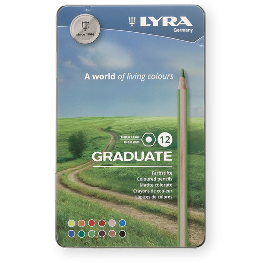 Lyra Graduate Colored Pencils - Set of 12