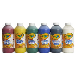 Crayola Washable Finger Paint - Set of 6 Pints