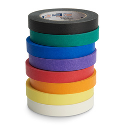 Colored Masking Tape - 3/4 in. x 60 yd. Rolls - Set of 8 - Assorted Colors