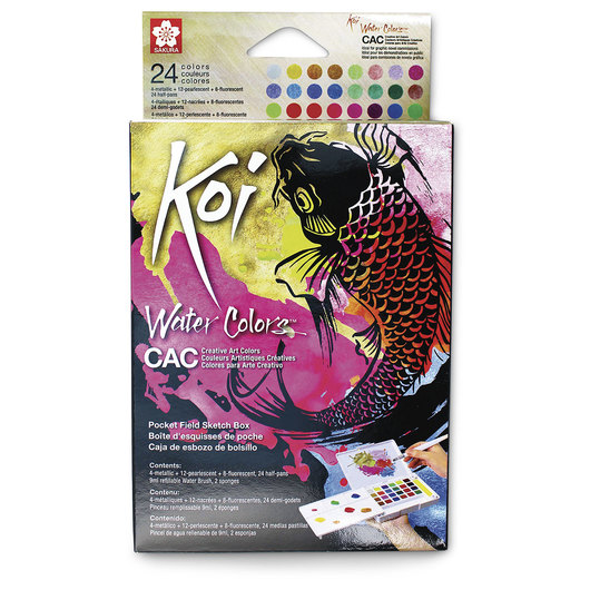 Sakura® Koi® CAC (Creative Art Colors) Watercolors - Set of 24