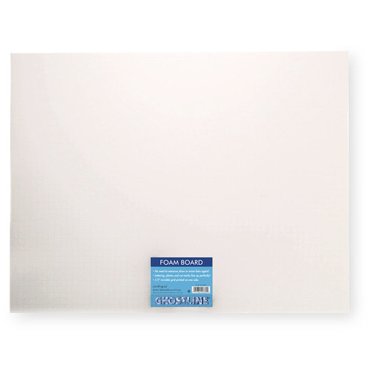 Pacon® Ghostline® Foam Board - Pkg. of 5 White on White