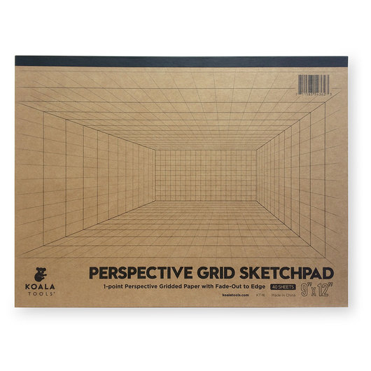 Koala Tools® 1-Point Perspective Room Grid Sketch Pad - 9 in. x 12 in.