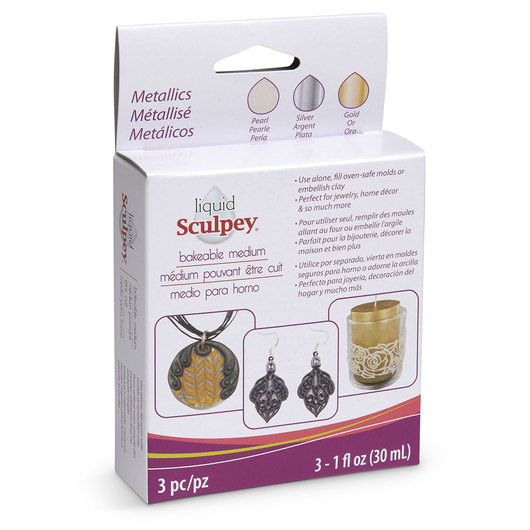 Liquid Sculpey® Bakeable Medium - Metallics 3-Pack