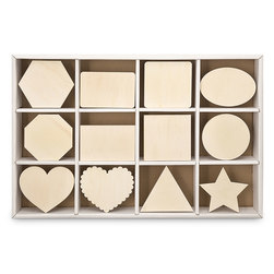 Unfinished Wood Shapes - Pkg. of 108