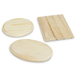 Unfinished Wooden Shape - Set of 3