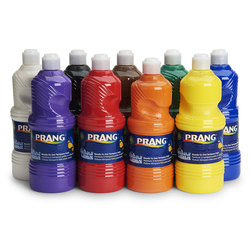 PRANG® Washable Ready-to-Use Tempera Paint - Set of 9 Quarts