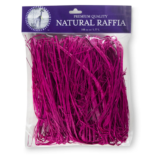 Colored Raffia - 105 cu. in. - Pink