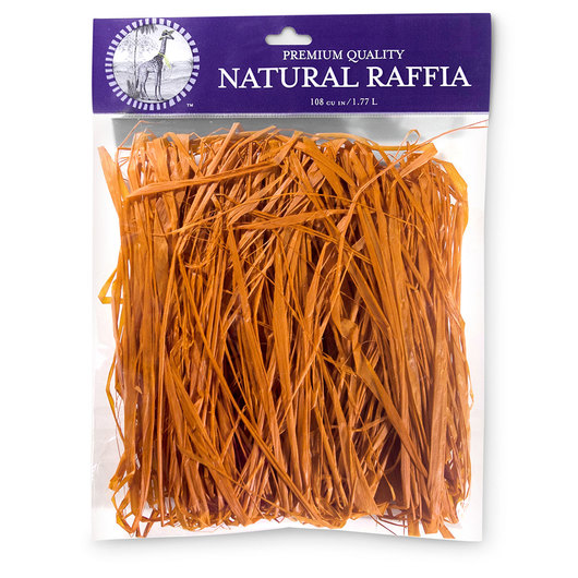 Colored Raffia - 105 cu. in. - Orange