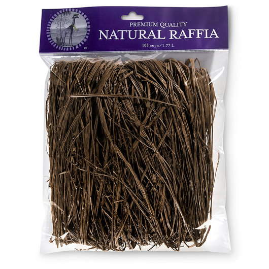 Colored Raffia - 105 cu. in. - Brown