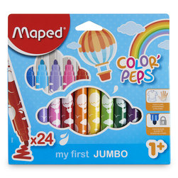 Maped® Color'Peps My First UltraWashable Safety Tip Markers - Set of 24