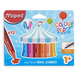 Maped® Color'Peps My First Jumbo Wax Crayons - Set of 12