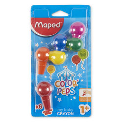 Maped® Color'Peps My First Easy-Grip Plastic Crayons - Set of 6