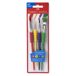 Faber-Castell® Soft Grip Brushes - Set of 4