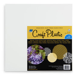 Grafix® Opaque White Craft Plastic - 12 in. x 12 in. - 25 Sheets