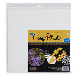 Grafix® Opaque White Craft Plastic - 12 in. x 12 in. - 4 Sheets