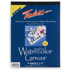 Fredrix® Watercolor Canvas Pad - 10 sheets - 9 in. x 12 in.