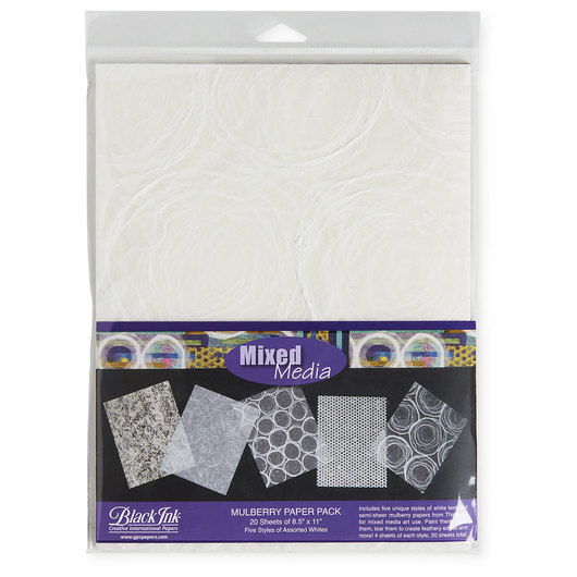 Black Ink™ Mixed Media Mulberry Pack - 20 Sheets