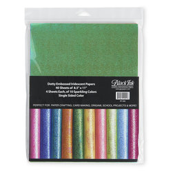 Black Ink™ Dotty Embossed Iridescent Paper - 40 Sheets