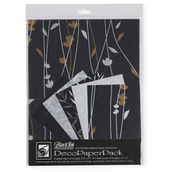 Black Ink™ DecoPaperPack - Meadow Flowers/Black