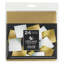 Black Ink™ Origami Paper Pack - 24 Sheets