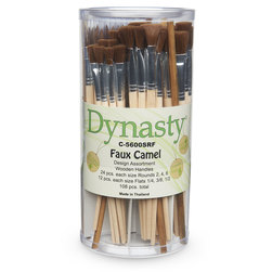 Dynasty® Faux Camel Canister - C-5600SRF Set of 108 Rounds and Flats